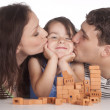 Pretty family constructing — Stock Photo #5950898