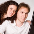 Young couple working — Stock Photo #5951325