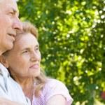 Happy elderly couple — Stock Photo #5951849