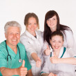 Happy doctors crew — Stock Photo