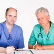 Two doctors consulting — Stock Photo