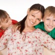 Mom with sons - Stock Photo