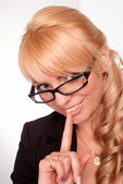 Nice worker in glasses — Stock Photo