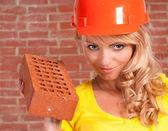 Very nice worker — Stock Photo