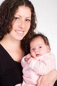 Nice mom with baby — Stock Photo
