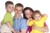 白の素敵な家族 — ストック写真