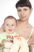 Beautiful mom with baby — Stock Photo