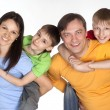 Nice family of a four — Stock Photo