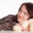 Girl with toy — Stock Photo