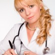 Cute doctor working — Stock Photo #6023553