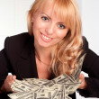 Stock Photo: Rich young woman