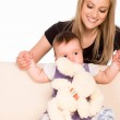 Mom with her baby — Stock Photo