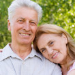 Cute elderly couple — Stock Photo