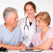 Nurse with patients — Stock Photo #6024829