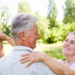 Elderly couple dance — Stock Photo