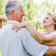 Elderly couple dance — Stock Photo #6024850
