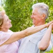 Elderly couple dance — Stock Photo #6024857