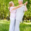 Elderly couple dance — Stock Photo #6024859