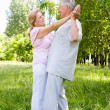 Elderly couple dance — Stock Photo #6024860
