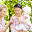 Nice family in park — Stock Photo #6024909