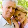 Nice aged couple — Stock Photo