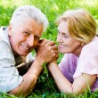 Cute aged couple — Stock Photo