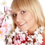 Girl among flowers — Stock Photo #6026374