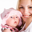 Cute baby with mom — Stock Photo