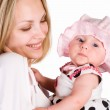 Cute baby with mom — Stock Photo #6027666