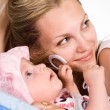 Cute baby with mom — Stock Photo #6027691