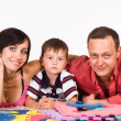 Nice family lying — Stock Photo