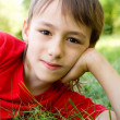 Boy on grass - Stock Photo