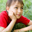 Boy on grass — Stock Photo