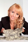Rich young woman — Stock Photo