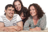 Family of a four — Stock Photo