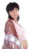 Pregnant girl standing — Stock Photo