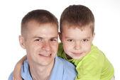 Vader met zoon — Stockfoto