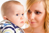 Beautiful mom with her baby — Stock Photo