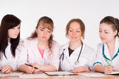 Doctors on conference — Stock Photo