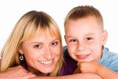 Happy mom and son — Stock Photo