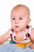 Cute baby on white — Stock Photo