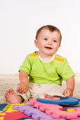 Little boy smiling — Stock Photo