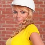 Beautiful girl in helmet — Stock Photo #6153489
