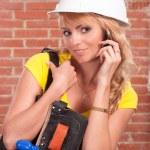 Nice worker speaking — Stock Photo #6153490