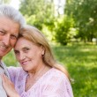 Stock Photo: Aged couple at nature