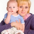 Stock Photo: Mom with baby