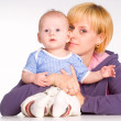 Mom with baby — Stock Photo #6155003