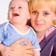 Happy mom and a baby — Stock Photo #6155010