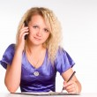 Woman with phone — Stock Photo #6155029