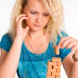 Stock Photo: Nice woman constructing